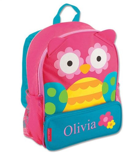 Embroidered Backpack For Girls | Personalized Owl Gifts For Girls