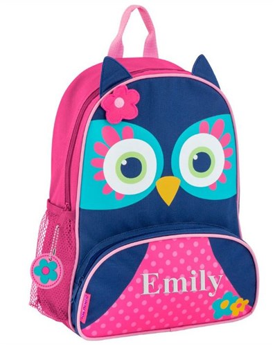 Embroidered Sidekicks Blue Owl Backpack E13381421