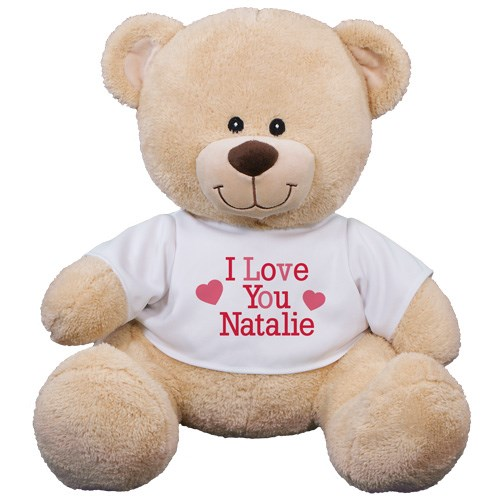 Personalized I Love You Teddy Bear | Personalized Valentine's Day Bear