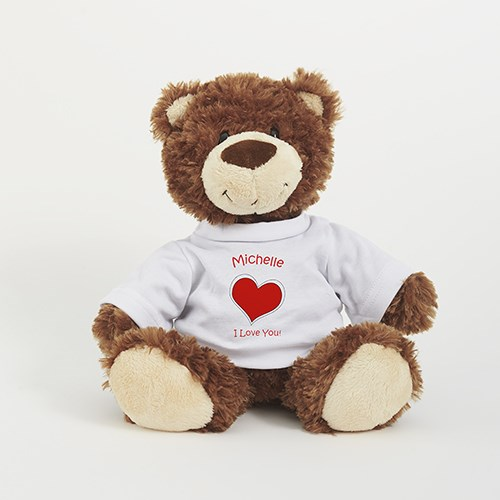Personalized Heart Smiles Bear AU9873-4558