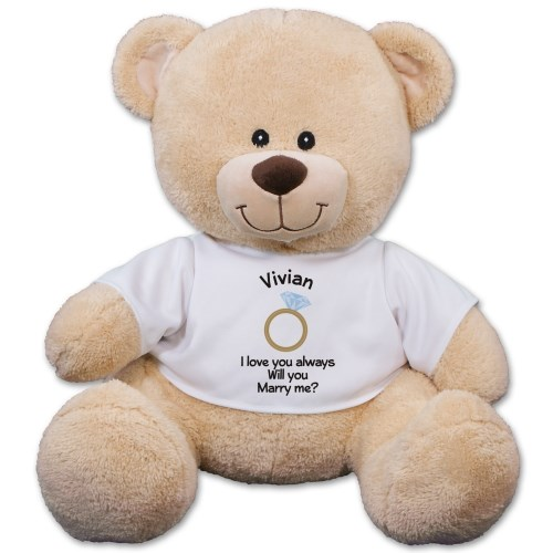Personalized Will You Marry Me Teddy Bear 834608X