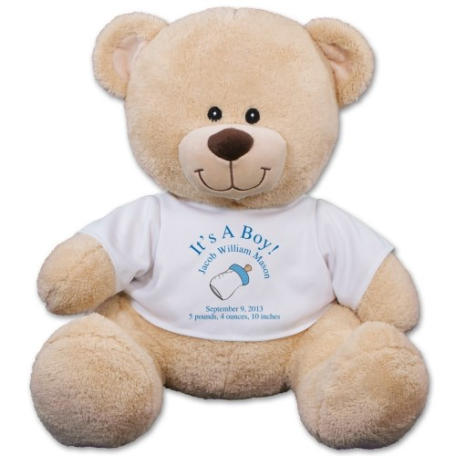 Personalized New Baby Boy Teddy Bear 834986X