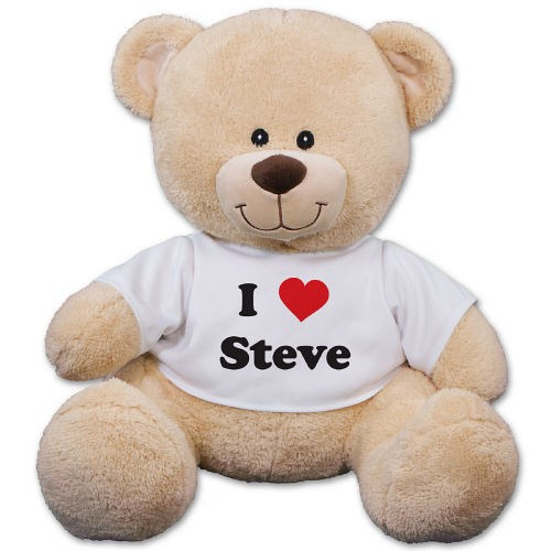 Personalized I Love You Teddy Bear 839699X