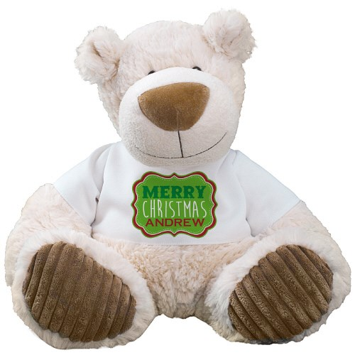 Merry Christmas Latte Teddy Bear AU1645LA-8090