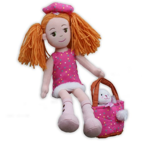 Pinky Promise Polka Dot Dress Rag Doll AU19237NP
