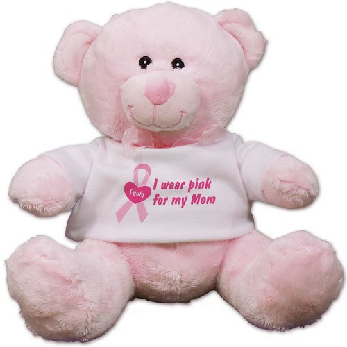 I Wear Pink Breast Cancer Awareness Teddy Bear CC52944P-4078
