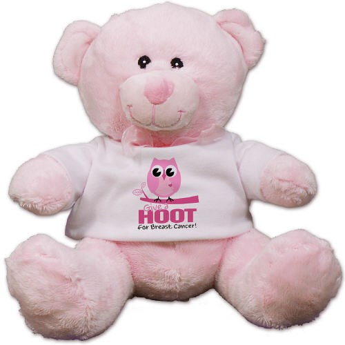 Give a Hoot Breast Cancer Awaareness Teddy Bear CC52944P-6033