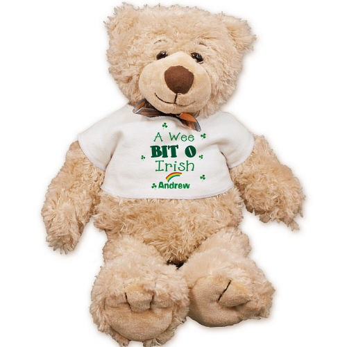 Personalized A Wee Bit O Irish Teddy Bear FM1895-1214