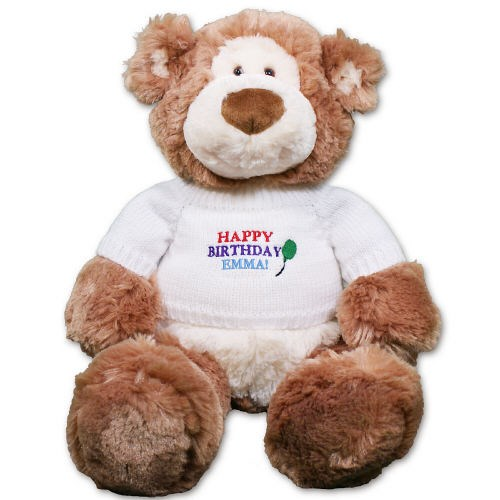 Embroidered Happy Birthday Teddy Bear GU15314-5883