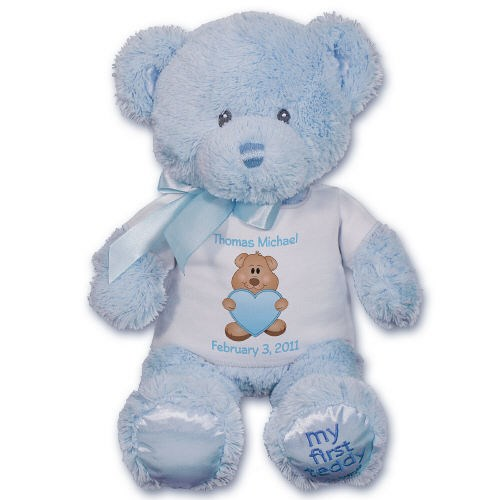 Personalized New Baby Blue Bear - 10