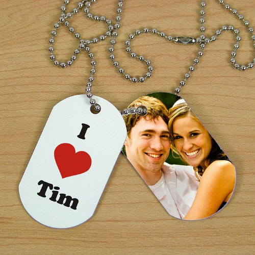 Personalized I Love Photo Dog Tags 8B39692
