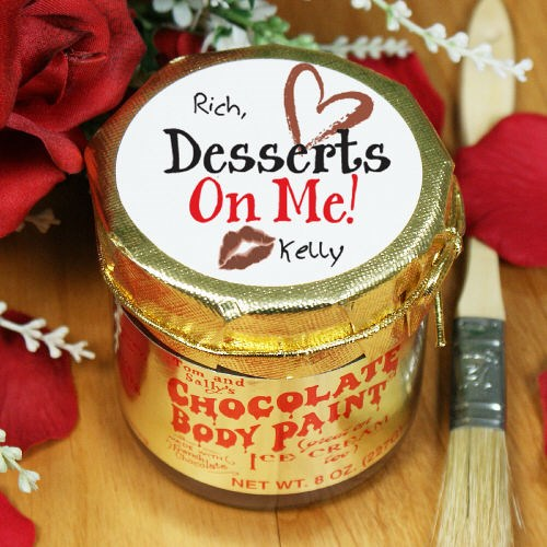 Personalized Desserts On Me Chocolate Body Paint 8B752278