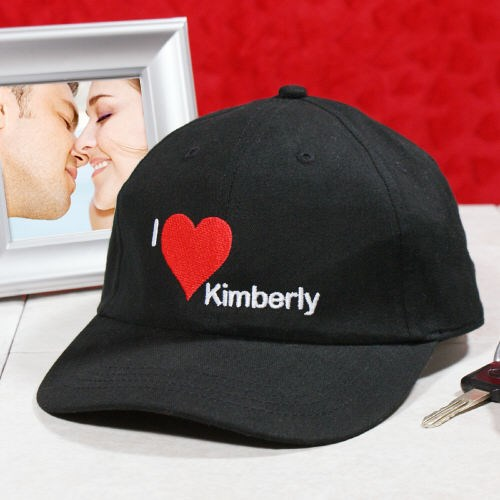 Embroidered I Love You Hat 8B832346BK