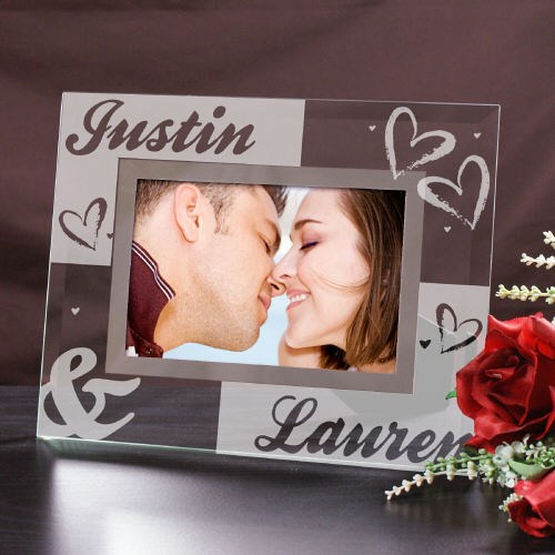 Engraved Couples Glass Frame 8BG952261