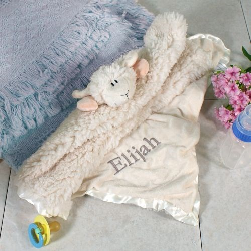 Embroidered Cuddle Bud Lamb Blanket E701685