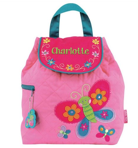 Little Kid's Butterfly Backpack | Quilted Butterfly Backpack