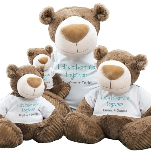 Let's Hibernate Together Mocha Teddy Bear AU8235X