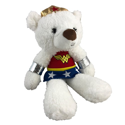 Fuzzy Wonder Woman Plush Bear | Wonder Woman Teddy Bear